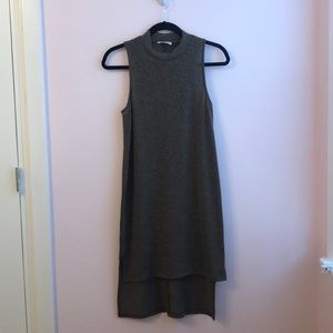 Everly Olive Green Mock Neck Dress (gently used)
